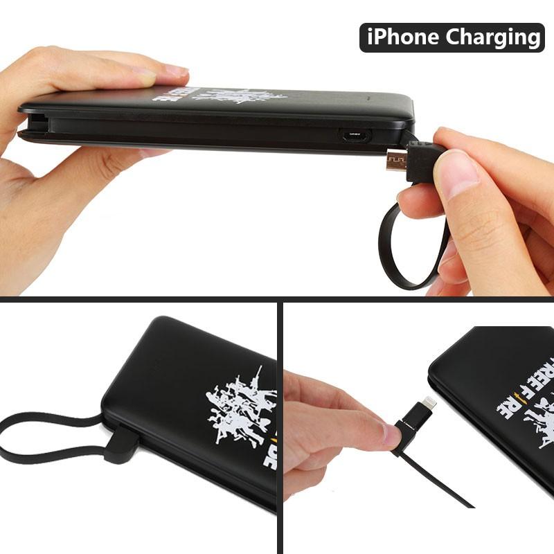 Sạc dự phòng Free Fire cho iPhone/thiết bị cổng type C/cổng micro 10000mAh
