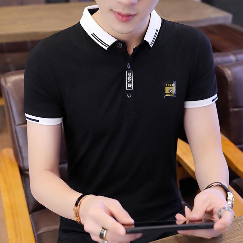 Áo thun Polo ngắn tay phong cách Hàn Quốc trẻ trung dành cho nam