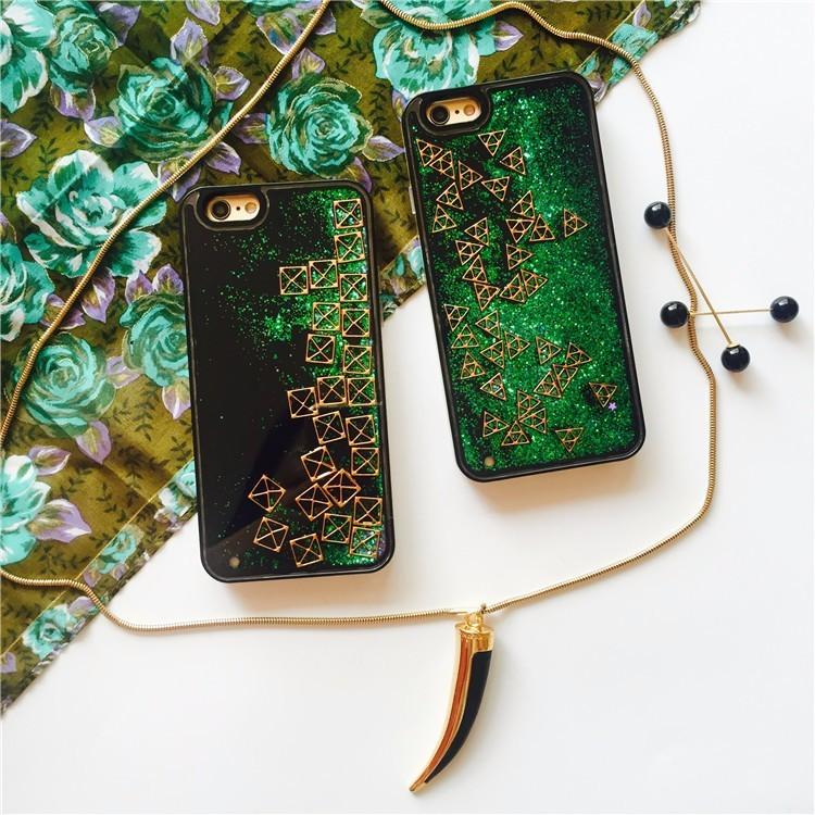 Ốp iPhone Hình Học chuyển động sinh học Nước Kim Tuyến