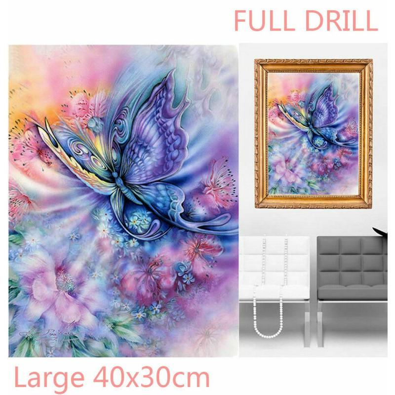 Full Drill Dream Butterfly 5D Diamond Painting Cross Stitch Craft Kit Beautiful