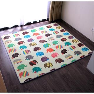Thảm chơi cho bé Hàn Quốc Lamilon mẩu Elephant 1m8 x 2m x 1.5cm
