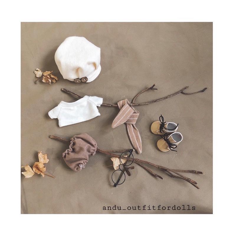 Set quần áo cho doll 15-20cm (Nira và Caro Autumn)