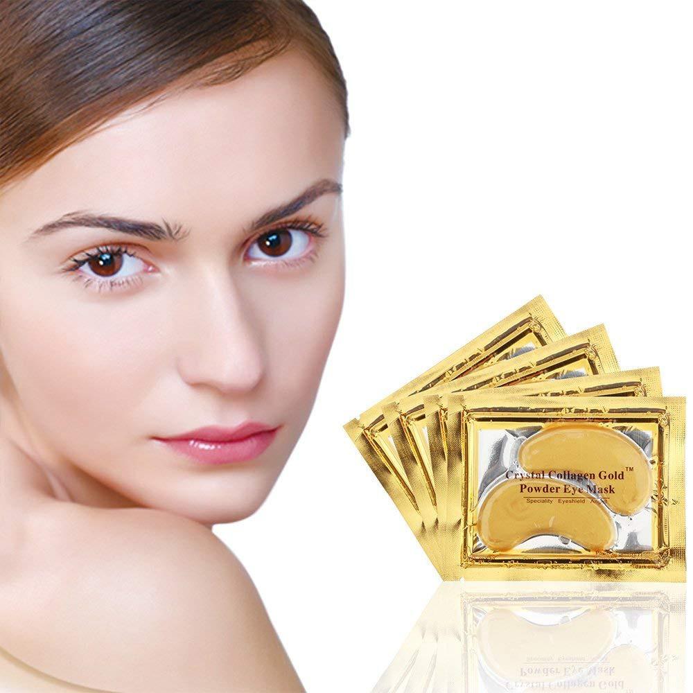 Combo 10 miếng Mặt Nạ Mắt Collagen Crystal Gold dưỡng sáng da cùng mắt