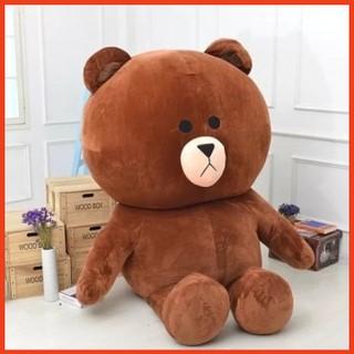 Gấu Bông Brow khổ vải 1m cao 80cm- Quà Tặng Yêu Thương
