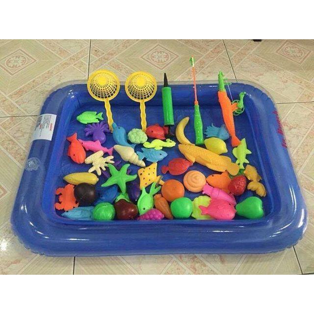 Bộ câu cá kèm bể phao và rổ cho bé 04