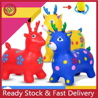 Kid Inflation Horse Hopper Outdoor Baby Thicken Horse Riding Jumping Horse