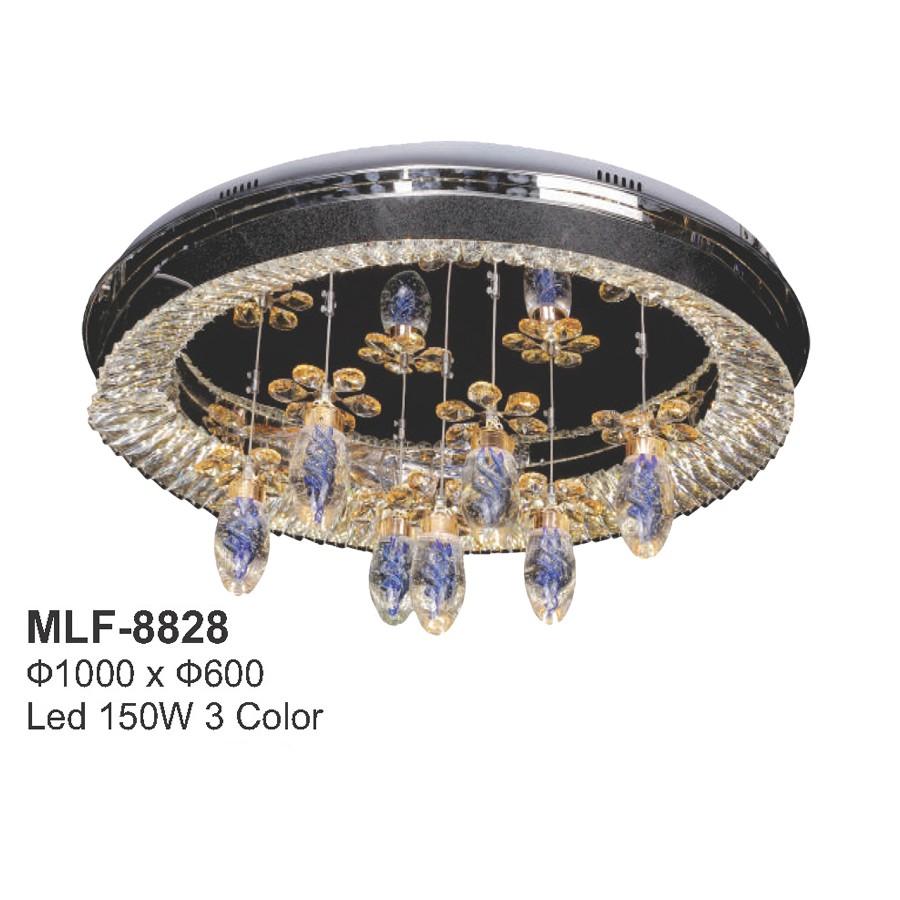 Đèn mâm LED ốp trần - pha lê trang trí VKT-MLF