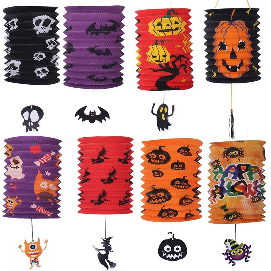 Tao Tao Halloween portable decorative paper lanterns arrangement card ventilated lanterns lanterns ghost house haunted b