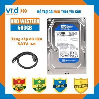 Ổ cứng HDD 500GB Western Blue - Tặng cáp sata 3.0 - Hàng nhập khẩu tháo máy đồng bộ mới 98% - Bảo hành 3T