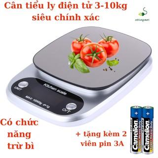 Cân thực phẩm, cân điện tử dùng trong nhà bếp Eblance độ chính xác cao cân từ 10Kg đến 1G