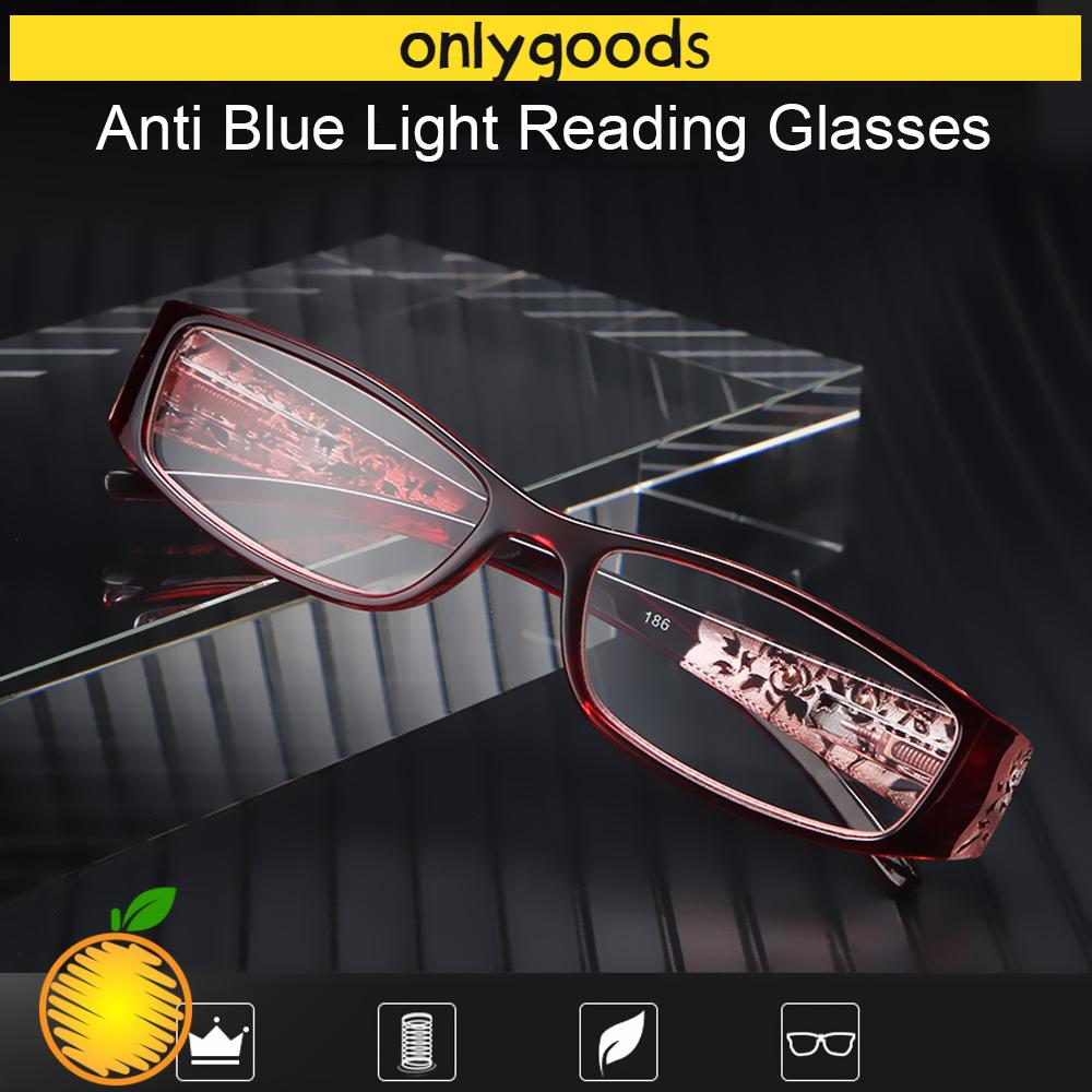 🎉ONLY🎉 Men Women Fashion Anti Blue Light Reading Glasses Radiation Protection Computer Goggles Presbyopic Eyewear Vision Care Ultralight Anti-blue Rays Retro Classic Printing Eyeglasses