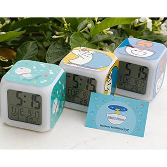 Đồng hồ để bàn báo thức kiêm đèn ngủ DORAEMON DOREMON có đèn led trang trí dễ thương cute