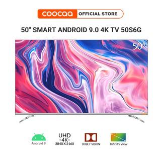 SMART TV 4K UHD Coocaa 50 inch - Android 9.0 TV- Wifi - viền mỏng - Model 50S6G - tivi giá rẻ Chân viền kim loại