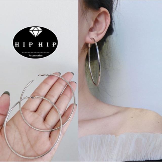 Bông tai/Khuyên tai tròn bạc sang chảnh cá tính - K016/17/18TR
