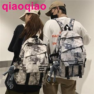 2021 new schoolbag male junior high school student backpack fashion Korean femal