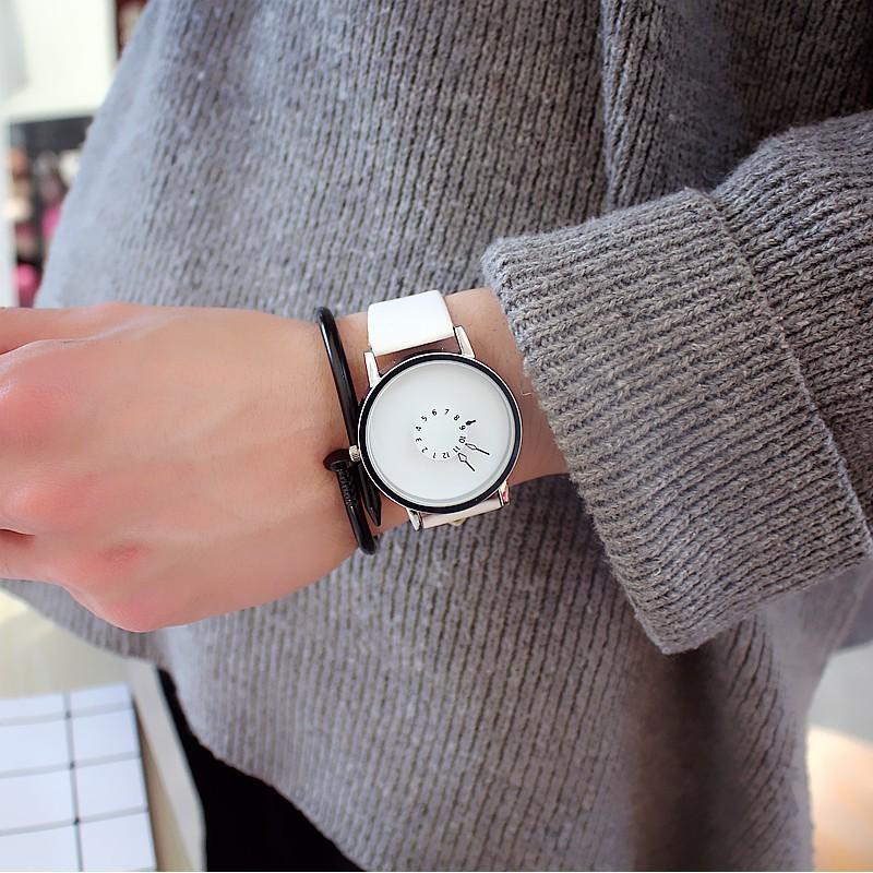 (Giá sỉ)Đồng hồ thời trang nam nữ kim ngược Witan W47.