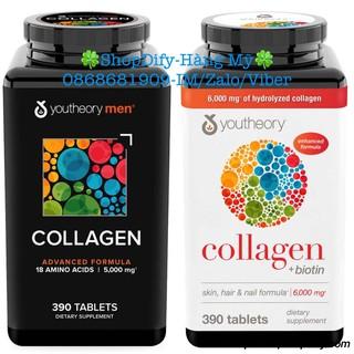 Viên Uống Collagen YOUTHEORY Advanced Formula Type 1 2 & 3 Hair Skin thumbnail