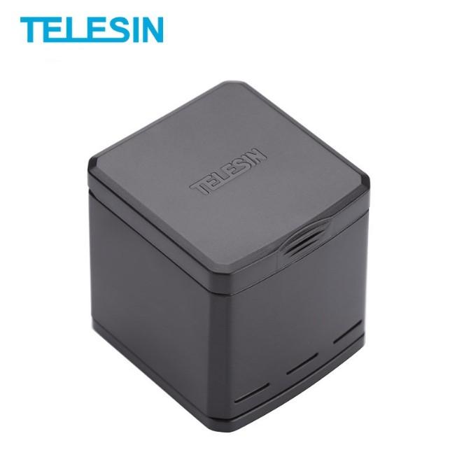 [Xả Kho] Telesin Sạc 3 Pin Type C và Pin GoPro CHÂN XANH 8/7/6/5 1220mAh 3.8V Pin GOPRO chất lượng đạt chuẩn EU