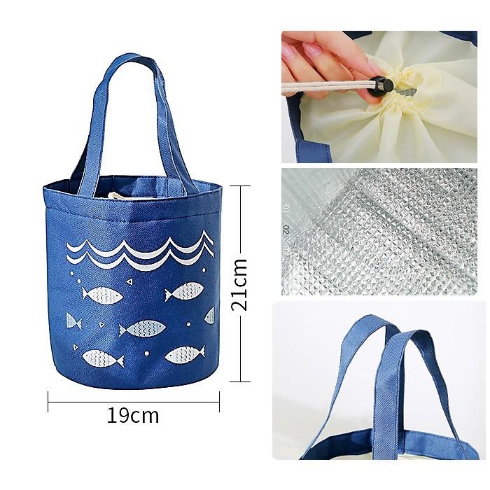Túi giữ nhiệt đựng hộp cơm tròn
