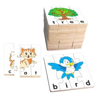 Đồ chơi gỗ ghép hình học chữ TA- 1 bộ 15 hình ghép hãng winwintoys