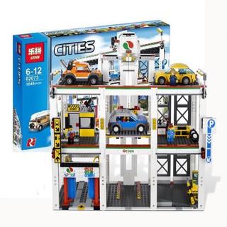 Lepin 02073 (NOT Lego City 4207 City Garage ) Xếp hình Gara Để Xe Công Cộng