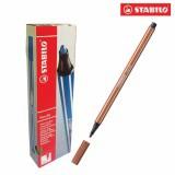 Hộp 10 cây bút lông màu STABILO Pen 68 (đỏ đất)