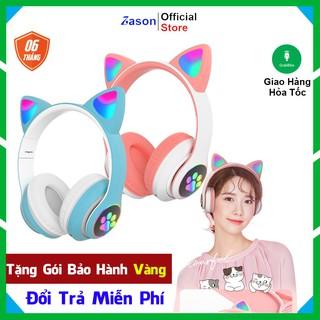 [Hàng Có Sẵn] Tai Nghe Bluetooth Tai Mèo Có Đèn LED Phát Sáng Cực Cá Tính BT18 thumbnail