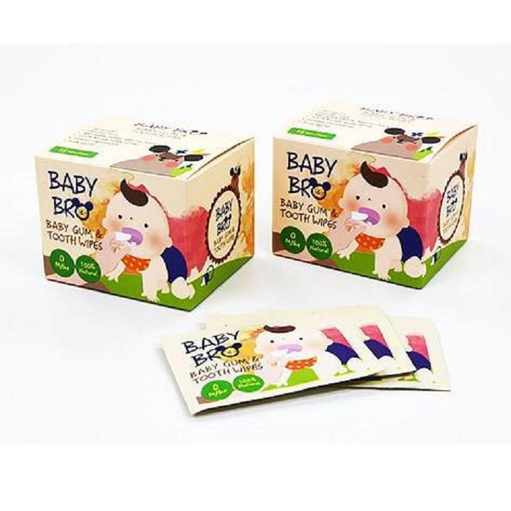 [Mã 267FMCGSALE giảm 8% đơn 500K] Gạc vệ sinh răng miệng trẻ em Baby Bro