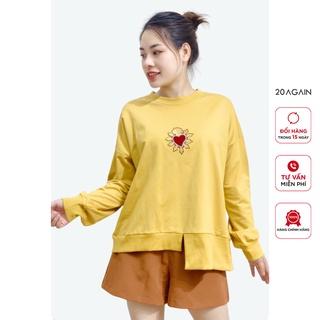 [Mã WABR1010 giảm 10% đơn 250k] Áo Sweater Nữ 20AGAIN Form Rộng Tay Dài Hàn Quốc ATA0684 thumbnail