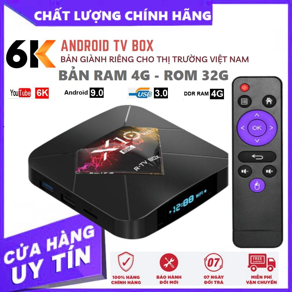 Tivi Box Android Ram 4G Rom 32G - Tiếng Việt - Biến Tivi Thường Thành Smart Tivi