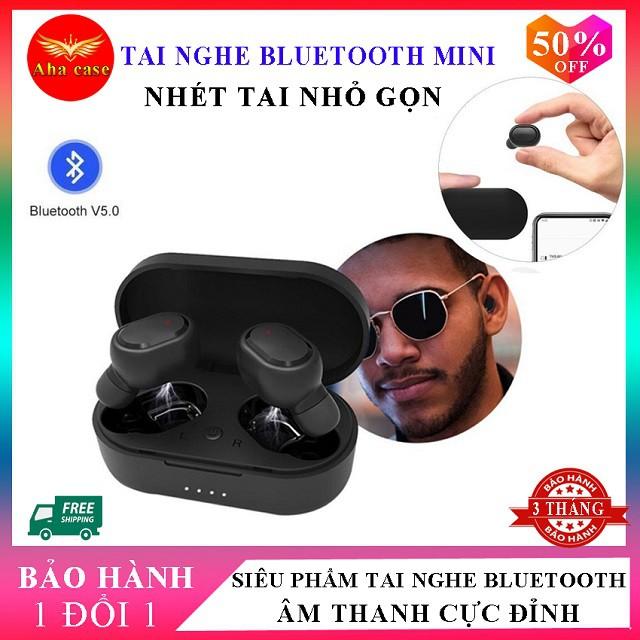 [FreeShip – Clip thật] Tai Nghe Nhét Tai Bluetooth Mini Bass Chuẩn, Hỗ trợ nghe gọi, Nguyên seal, Chống ồn Siêu Chất