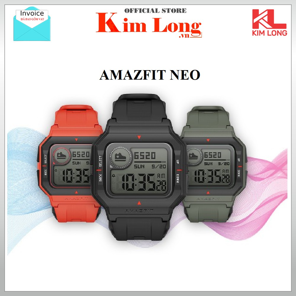 [Mã ELMS4 giảm 7% đơn 500K] Đồng hồ thông minh Huami Amazfit Neo - Bản quốc tế chính hãng