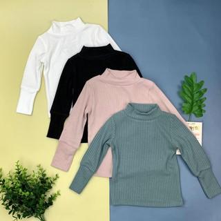 Áo cotton len tăm cổ 3p Litibaby bé trai, bé gái size 1/10 cho bé từ 9-30kg. Chiếc áo mềm mại, ấm áp cho bé