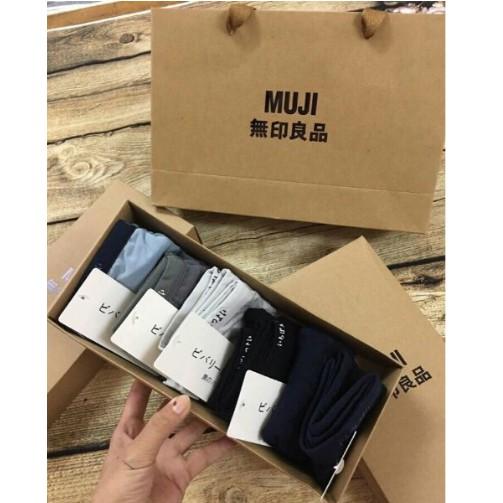 Hộp 5 sịp đùi nam Muji kèm hộp và túi giấy - 3061691 , 931645021 , 322_931645021 , 250000 , Hop-5-sip-dui-nam-Muji-kem-hop-va-tui-giay-322_931645021 , shopee.vn , Hộp 5 sịp đùi nam Muji kèm hộp và túi giấy