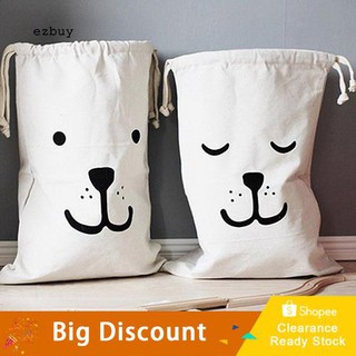 ☛Ready stock☚Useful Baby Toys Pouch Canvas Storage Bags Cute Bear Batman Laundry Bag