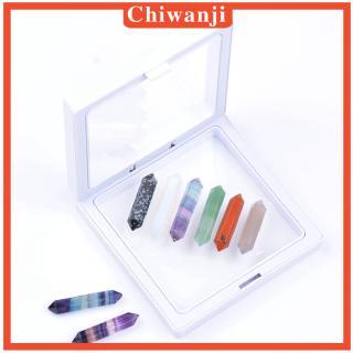 [CHIWANJI] 6 Pieces Polished Quartz Crystal Points Reiki Meditation Therapy Stones
