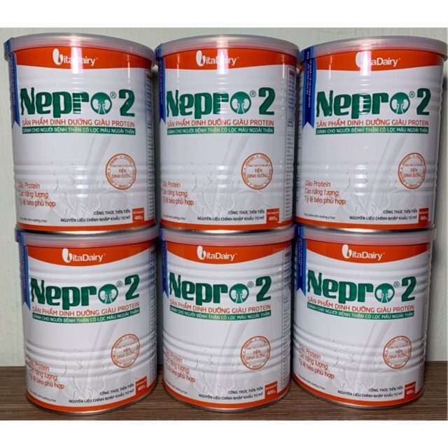 Sữa bột Nepro 2 400g (Dùng cho người bệnh thận)