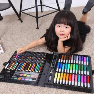 – Bộ bút chì 150 món tập vẽ cho bé dạng cặp xách