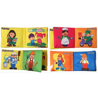 1 X Soft Cloth Picture Cognize Book Baby Intelligence Development Book