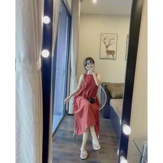 Váy Đũi Yếm Dáng Xuông Hót Hít Đủ 2 Màu