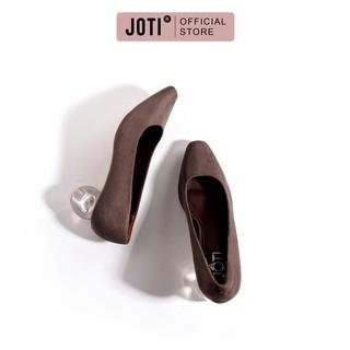 JOTI Giày Cao Gót Công Sở Nữ Zalina 3214VN5 2021 - Mũi Vuông Đế Trụ Tròn Trong Suốt 5cm - Mang Đi Làm Dạo Phố Dự Tiệc thumbnail