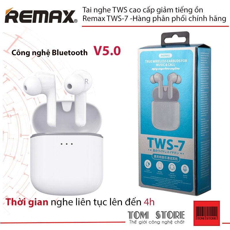Tai nghe True Wireless cao cấp giảm tiếng ồn Remax TWS-7 tích hợp công nghệ Bluetooth V5.0 #tainghe giảm chỉ còn 505,000 đ