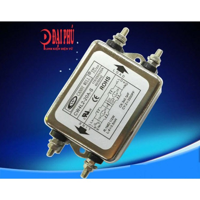 Bộ lọc nguồn kép 1 pha 220V 20A EMI Taiwan CANNYWEL CW4L2 - DIY lọc nguồn amplifier - 3301502 , 765976360 , 322_765976360 , 250000 , Bo-loc-nguon-kep-1-pha-220V-20A-EMI-Taiwan-CANNYWEL-CW4L2-DIY-loc-nguon-amplifier-322_765976360 , shopee.vn , Bộ lọc nguồn kép 1 pha 220V 20A EMI Taiwan CANNYWEL CW4L2 - DIY lọc nguồn amplifier