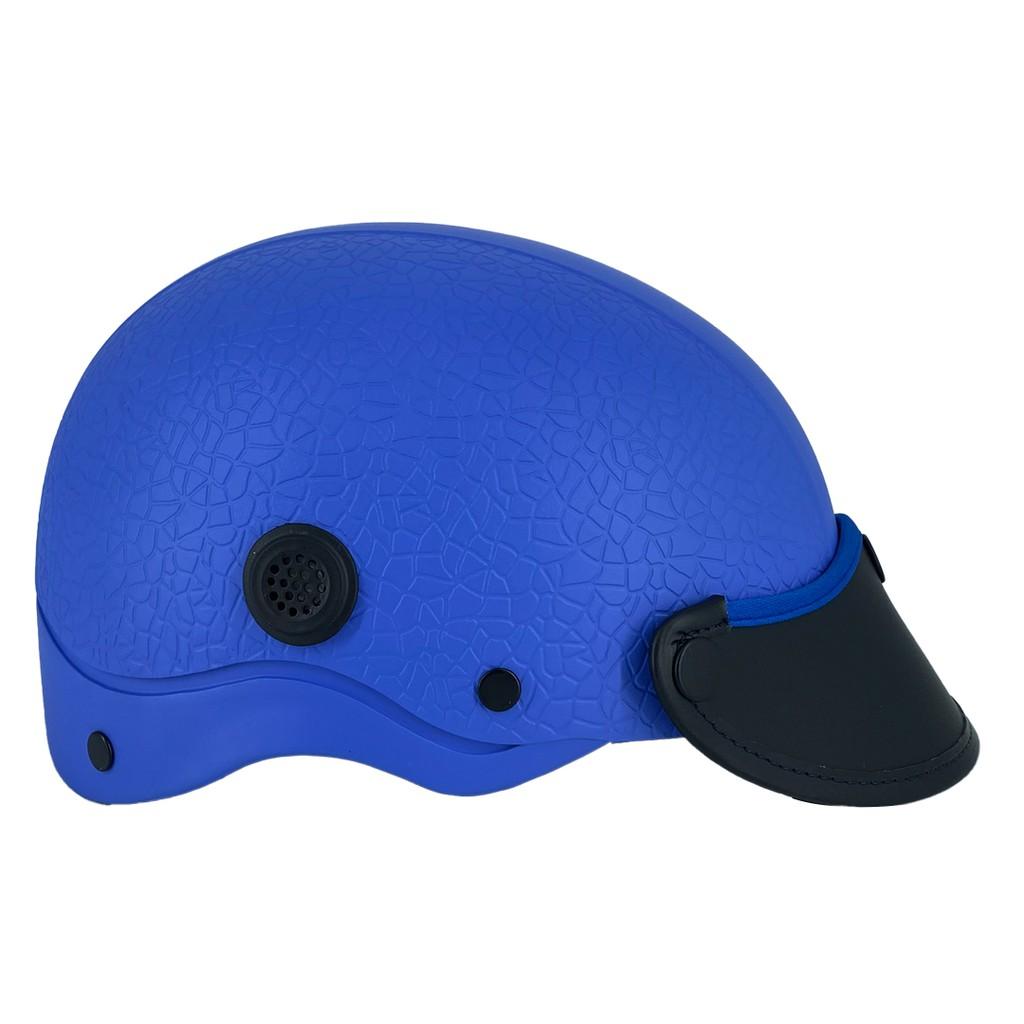 Mũ Bảo Hiểm 1/2 Đầu NAPOLI N088 vân nổi Màu Xanh Dương Cao Cấp - Free Size ( 54 - 58 cm ) - Bảo Hành 12 Tháng