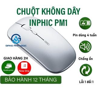 Chuột không dây Inphic 5.0 siêu nhạy chính hãng chuột bluetooth không tiếng ồn thumbnail