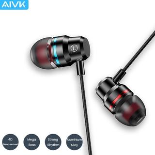 Tai nghe nhét tai stereo có dây + mic giắc 3.5mm