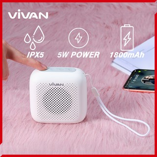 [ nhà phân phối chính 1 đổi 1] Loa Bluetooth 5.0 ngoài trời chống thấm nước Vivan VS1 chơi nhạc liên tục 8 giờ sạc nhanh