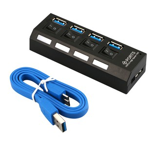 HUB CHIA USB 1 CỔNG RA 4 CỔNG LOẠI 3.0 CÓ CÔNG TẮC