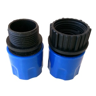 Expandable Stretch Hose Adapters Connector Quick Connect Tap and Spray Appliance Joint Supplies Blue 1 Set