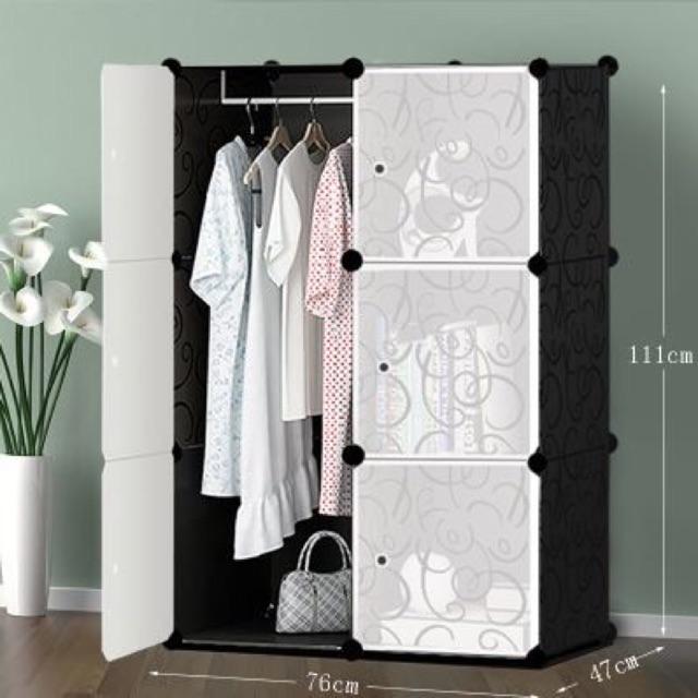 Tủ nhựa lắp ghép tiện dụng Tủ đựng quần áo Tủ lắp ghép đựng quần áo giầy dép 2017